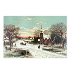 Vintage Christmas Winter Postcards (Package of 8)