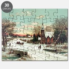 Vintage Christmas Winter Puzzle