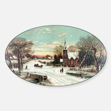 Vintage Christmas Winter Decal