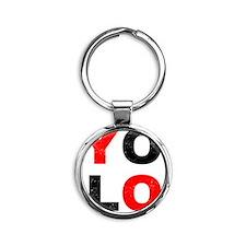 YOLO Round Keychain