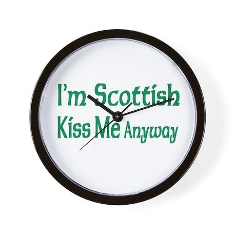 I'm Scottish, Kiss Me Anyways Wall Clock