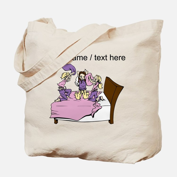 Custom Pillow Fight Tote Bag