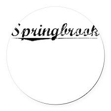 Springbrook, Vintage Round Car Magnet