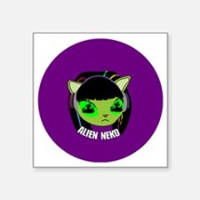 "Alien Neko Ep.2 Badge Square Sticker 3"" x 3"""