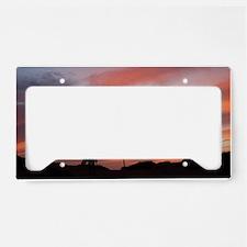surfer at sunset License Plate Holder
