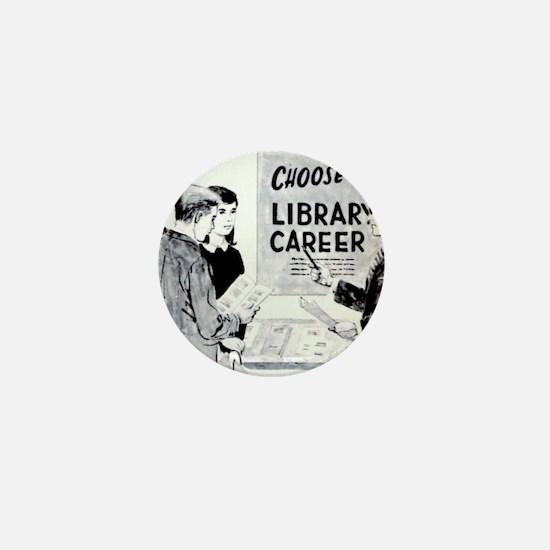 Retro Librarian Mini Button