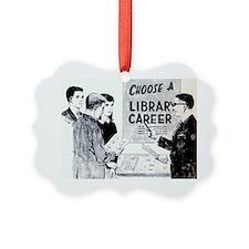 Retro Librarian Ornament