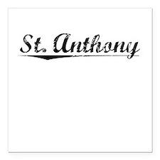 "St. Anthony, Vintage Square Car Magnet 3"" x 3"""