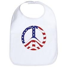 Patriotic Peace Sign Bib