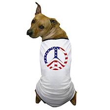 Patriotic Peace Sign Dog T-Shirt