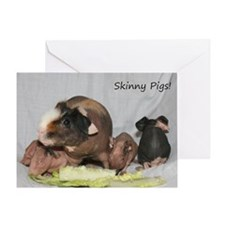 Skinny Pigs Greeting Card