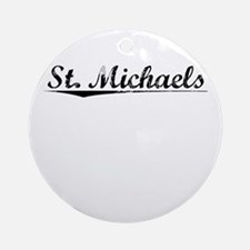 St. Michaels, Vintage Round Ornament