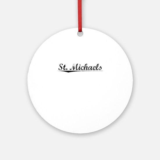 St. Michaels, Vintage Round Ornament