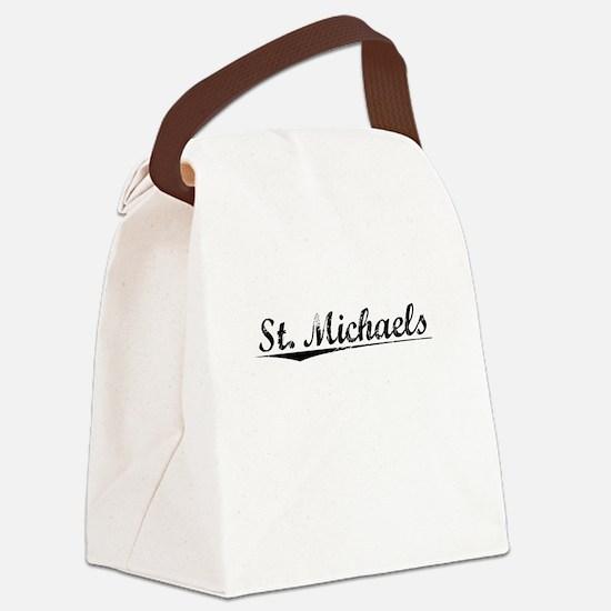 St. Michaels, Vintage Canvas Lunch Bag