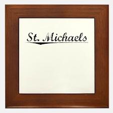 St. Michaels, Vintage Framed Tile