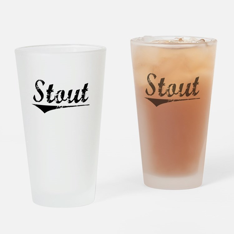 Stout, Vintage Drinking Glass