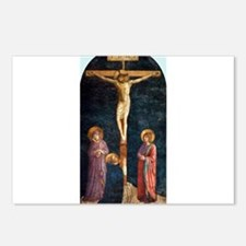 Crucifixion with St Dominic - Fra Angelico Postcar