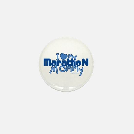 I Love My Marathon Mommy Mini Button