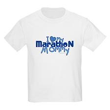 I Love My Marathon Mommy Kids T-Shirt