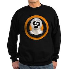 Cute Angry Ghost Orange Sweatshirt