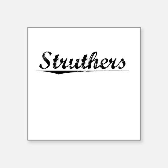 "Struthers, Vintage Square Sticker 3"" x 3"""