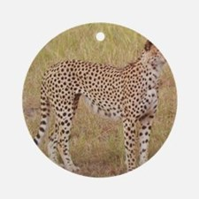 cheetah brother kenya collection Round Ornament