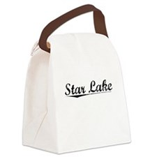 Star Lake, Vintage Canvas Lunch Bag