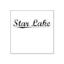 "Star Lake, Vintage Square Sticker 3"" x 3"""