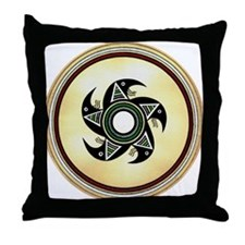 MIMBRES SPINNING BUGS BOWL DESIGN Throw Pillow