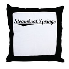 Steamboat Springs, Vintage Throw Pillow