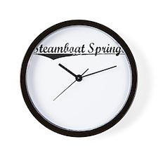 Steamboat Springs, Vintage Wall Clock