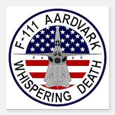 "F-111 Aardvark - Whisper Square Car Magnet 3"" x 3"""