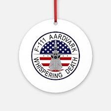 F-111 Aardvark - Whispering Death Round Ornament