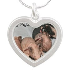 Skinny pigs Silver Heart Necklace