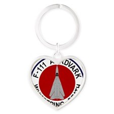 F-111 Aardvark - Whispering Death Heart Keychain
