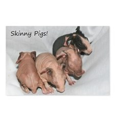 Skinny pigs Postcards (Package of 8)