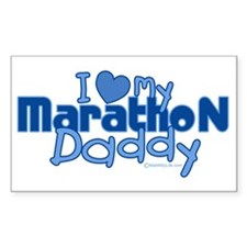 I Love My Marathon Daddy Rectangle Decal