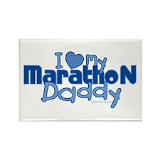 I Love My Marathon Daddy Rectangle Magnet