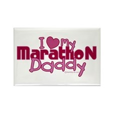 I Love My Marathon Daddy Rectangle Magnet