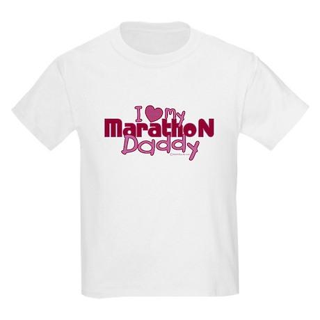 I Love My Marathon Daddy Kids T-Shirt