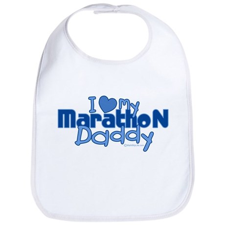 I Love My Marathon Daddy Bib