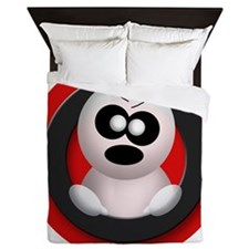 Cute Angry Ghost Red Queen Duvet