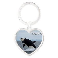 Killer Whales Heart Keychain