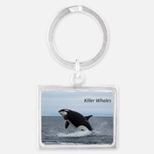 Killer Whales Landscape Keychain
