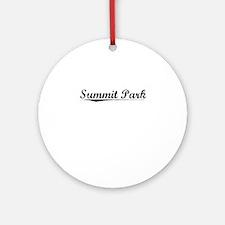Summit Park, Vintage Round Ornament