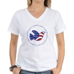 Peace Dove Women's V-Neck T-Shirt