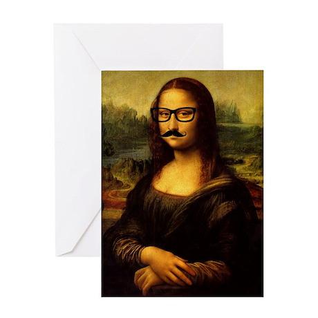 Mona Lisa Incognito Greeting Card