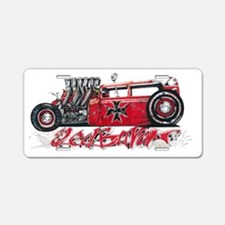 Red Baron Hot Rod BL Aluminum License Plate