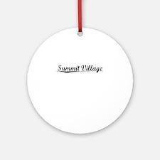 Summit Village, Vintage Round Ornament