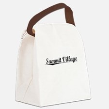 Summit Village, Vintage Canvas Lunch Bag